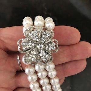 Jewelry - Two faux pearl beaded bracelets.